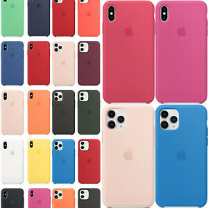 Cover Originale Apple Per iPhone 11 12 Pro X XR XS Max 8 7 6s Custodia Silicone