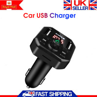 Wireless Bluetooth Handsfree Car Charger Kit FM Transmitter MP3 Player Dual USB
