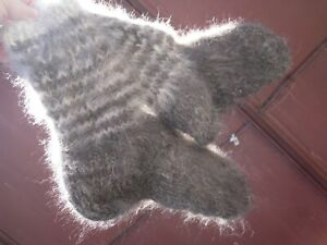 Hunting fishing socks 100% natural DOG's down hair yarn handknitted furry thick
