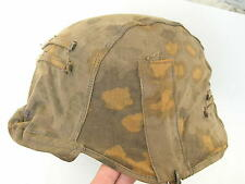 Original WW2 German Waffen ZZ soldiers camouflage helmet oak leaf camo cover