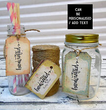 24 Handmade labels | Shabby Chic homemade hand crafted  | Gift tags Personalise