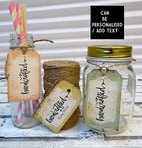 24 Handmade labels   Shabby Chic homemade hand crafted    Gift tags Personalise