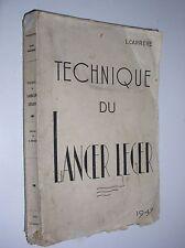 L. CARRERE - TECHNIQUE DU LANCER LÉGER - 1947