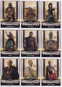 Star Wars Mandalorian Season 1, Complete Characters Chase Card Set C1-18