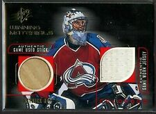 1998-99 Patrick Roy SPX Winning Materials Game Worn Jersey Game Used Stick