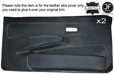 Green piquer 2X avant porte complète carte couverture en cuir pour ford fiesta MK2 XR2 early