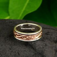 925 Sterling Silver Spinner Ring Wide Band Meditation Statement Jewelry A495