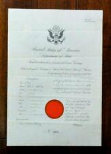 1910 U.S. Department Of State Passport, To Travel To Turkey.