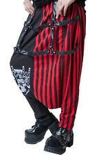 japan street punk harajuku Sign of the horns striped slack harem pants【JAG0003】