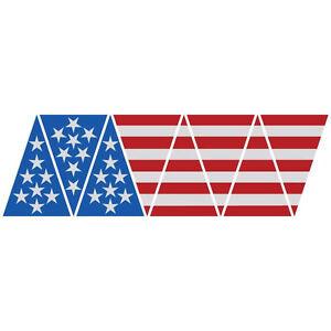American Flag Top 1010 Helmet Top 8 piece Firefighter Reflective Decal Sticker