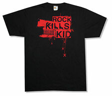 Rock Kills Kid! Red Hand Guns & Xs Black T-Shirt Large New