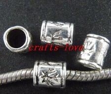 100pcs Tibet Silver Nice Tube Spacers 9x7mm 410