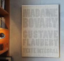 Affiche Madame Bovary au Mur texte intégral Flaubert 70x100cm prestige culturel