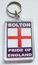 Bolton Wanderers Pride of England Acrylic Key Ring Keyring *