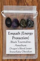 Empath Energy Protection Gemstones Crystal Set Tumbled Stones Tourmaline Jasper