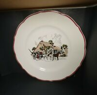 """Vintage Sryacuse China Mrs.K's Toll House Silver Springs, MD 9.5"""" Dinner Plate"""