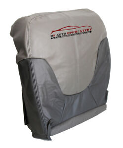 1999 2000 GMC Yukon Denali 4X4 Driver Side Bottom Leather Seat Cover 2 Tone Gray