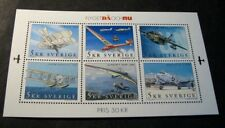 Souvenir Sheet Sweden Stamp Scott# 2421 Aviation 2001 Mnh Sheet of 6 C506