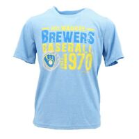 Milwaukee Brewers Kids Youth Size MLB Official Athletic Polyester T-Shirt New