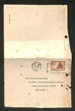 1961 Singapore Malaya Queen Elizabeth 4 Cents Stamp Chop HDB Mail Cover (C1412)