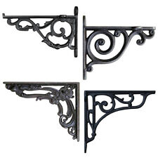 ANTIQUE WALL BRACKET PAIR Cast Iron Shelf Toilet Cistern Rustic Victorian Ornate