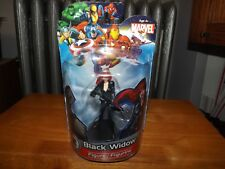 """MARVEL, BLACK WIDOW 4"""" FIGURE ON STAND, NEW IN PACKAGE, 2012"""