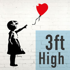 Girl and Red Balloon, Famous Banksy Wall Sticker Art Vinyl Transfer - London