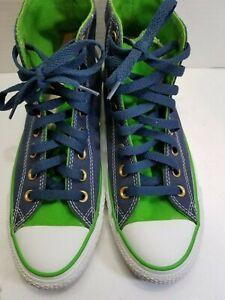 converse all star chuck taylor high top men's SZ 6.5 women's SZ 8,5 BLUE/GREEN