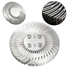 Round Spiral Aluminum Heat Sink Radiator 90x10mm For 10W High Power LED Lamp* US