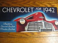 1942 Chevrolet Brochure Special Master Deluxe Special Fleetwood, Xlnt Original