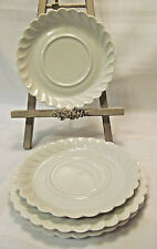 Haviland Limoges France TORSE WHITE 2 Bread & Butter Plates 2 Saucers