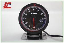 60mm def advanced Tacho tachometer RPM gauge Amber red/ white lights black face
