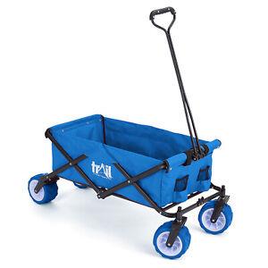 Folding Beach Trolley Camping Cart All Terrain Wheels Festival Garden 60kg Trail
