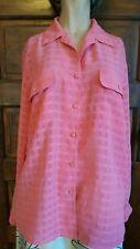 EUC Liz Baker sz 12 Pink Long Sleeve Button Down Blouse
