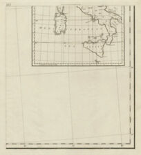 Index map south part. Southern Italy. Sardinia Sicily. CHAUCHARD 1800 old