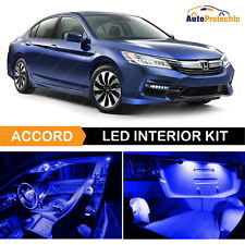 12x LED Ultra Blue Light Interior Package Deal For 2013 - 2018 Honda Accord Tool