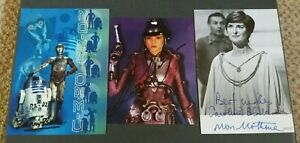 STAR WARS SIGNED X 3, KENNY BAKER, CAROLINE BLAKISTON & LEEANNA WALSMAN, NICE!!
