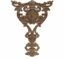 Exquisite Classic Rubber Wood Carve Applique Retro Furniture Craft Decor Vintage