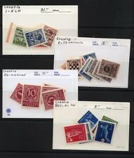 Croatia   lot  of  mint  stamps  in holders        KL1008