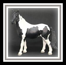 ❤Retired Schleich Model Horse Pinto Mare Farm Life 13795 Paint Black White❤
