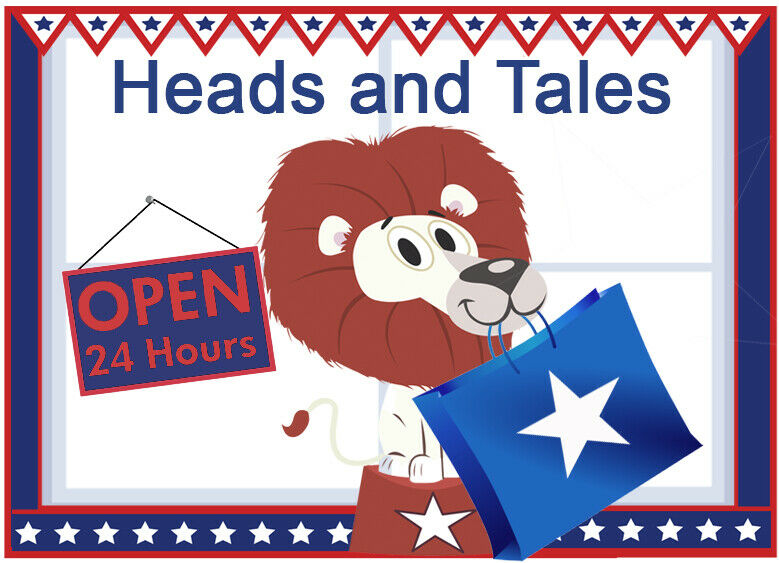 HEADS AND TALES CUPCAKE TOPPERS