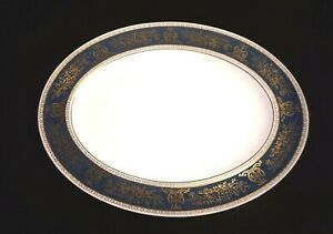 Beautiful Wedgwood Columbia Blue And Gold Large Platter