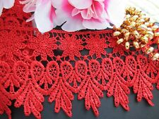 Beautiful red Venise  Lace Trim  - selling by the yard