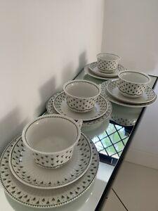 ADAMS MEADOWLANDS IRONSTONE 4 TRIOS(4 X   TEA CUP & SAUCER and TEA PLATES