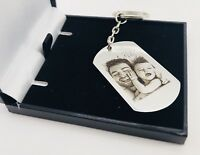 Personalised customised Metal Keyring Photo Printed/ text Engraving Free Giftbox