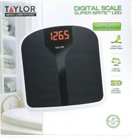 Taylor Super Brite LED Instant Step On Readout To 350 Lb Non Slip Digital Scale