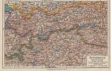 Österreich - Westlicher Teil - Alte Landkarte 1933 - Karte Druck Vintage Map