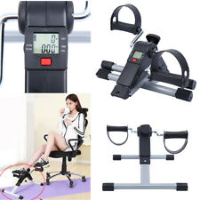 Foldable Portable Pedal Fitness Exerciser Cycle Leg/Arm and LCD Display Home Gym
