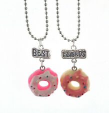 "2PCS Cake Doughnut Children Necklace ""Best Friends"" For Children Charms Jewelry"