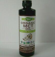 Nature's Way Organic MCT Oil From Coconut Non GMO Gluten Free Keto Diet 16 fl oz